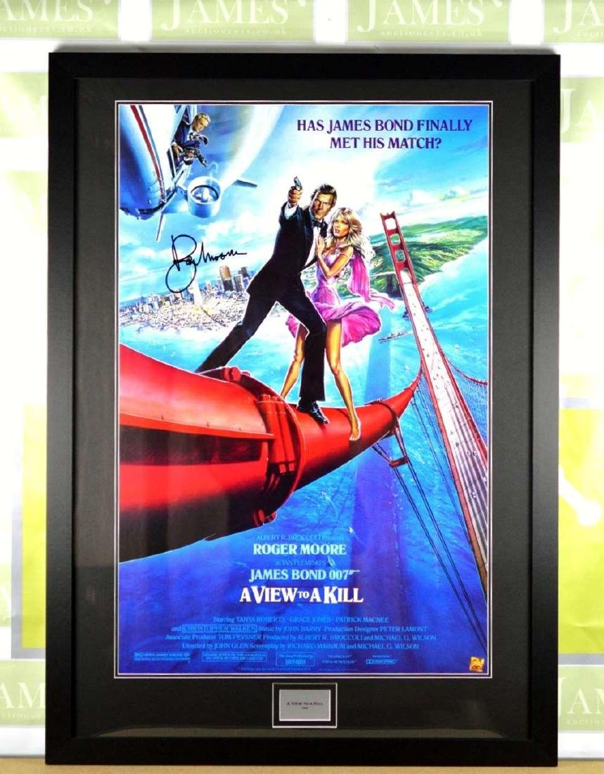 """James Bond - Sir Roger Moore"""" View To a Kill"""" Signed"""