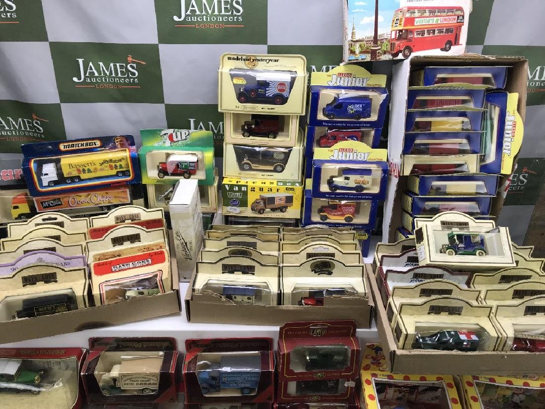 large collection of die cast vehicles, Days Gone By,