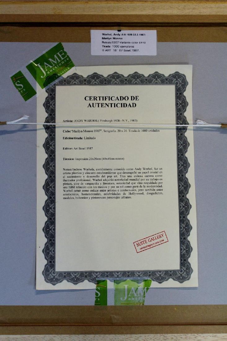 "Andy Warhol ""Marilyn""1987 ltd edition certified - 2"