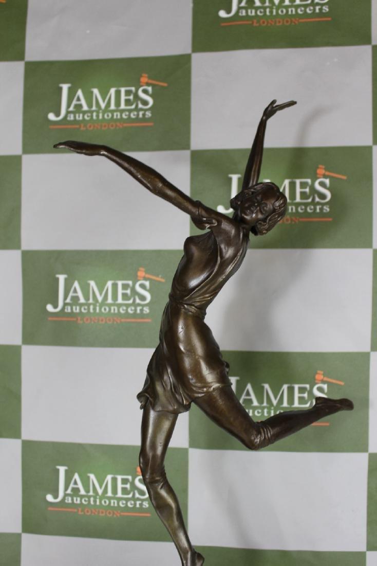 Art Deco Bronze Figure of a Dancer, Signed B. Zach, RRP - 2
