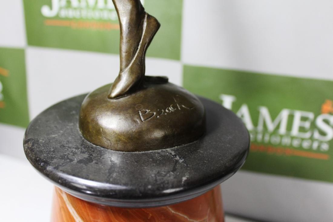 Art Deco Bronze Figure of a Dancer, Signed B. Zach, RRP - 3