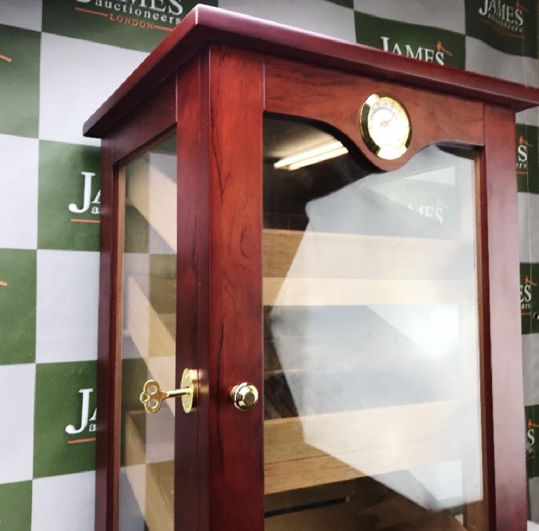 Large Rose Wood Cigar Humidor Cabinet & Cigars - 2