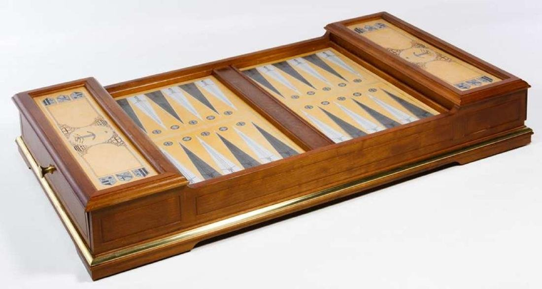 Franklin Mint Excalibur Backgammon Gold & Silver Set