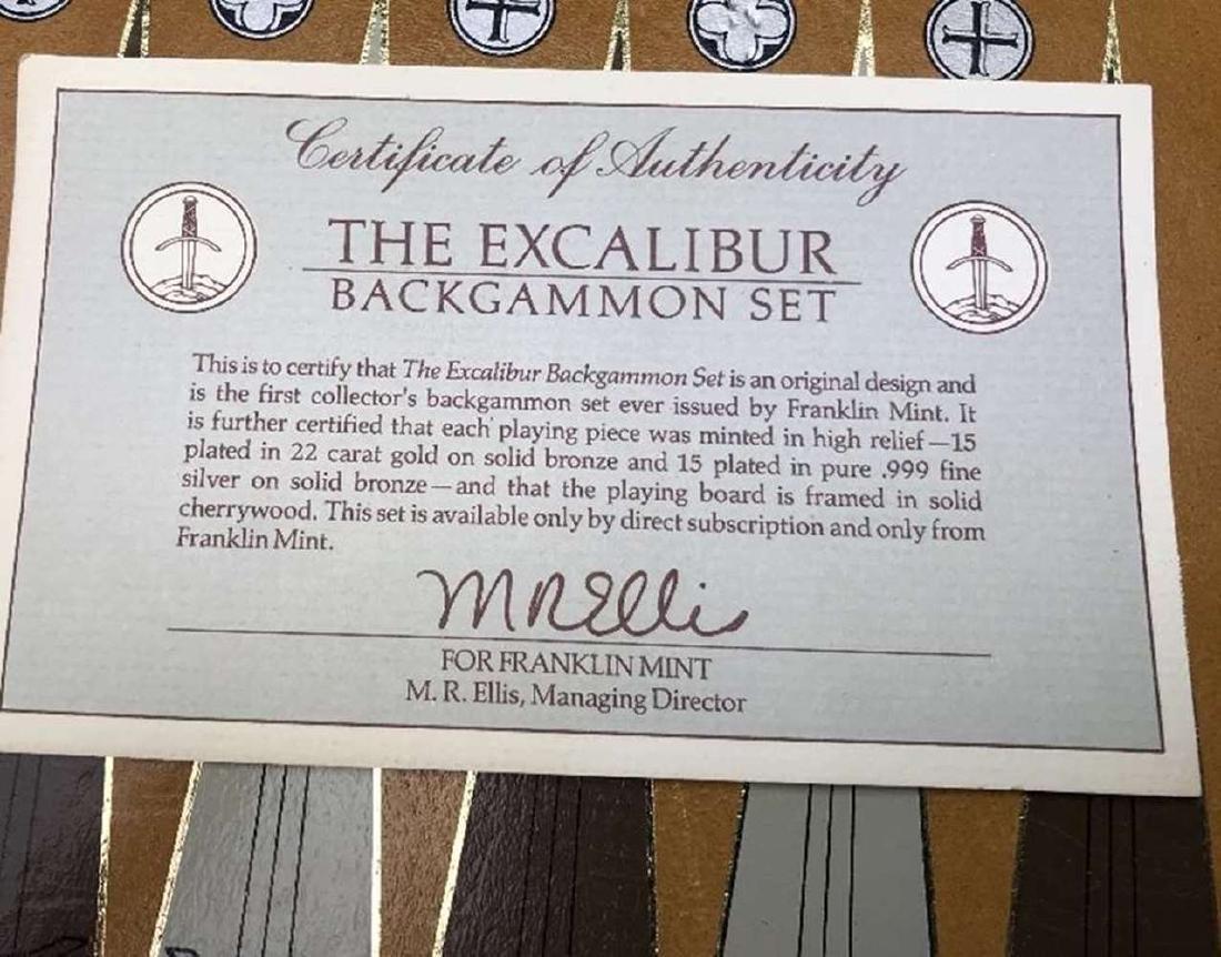 Franklin Mint Excalibur Backgammon Gold & Silver Set - 3