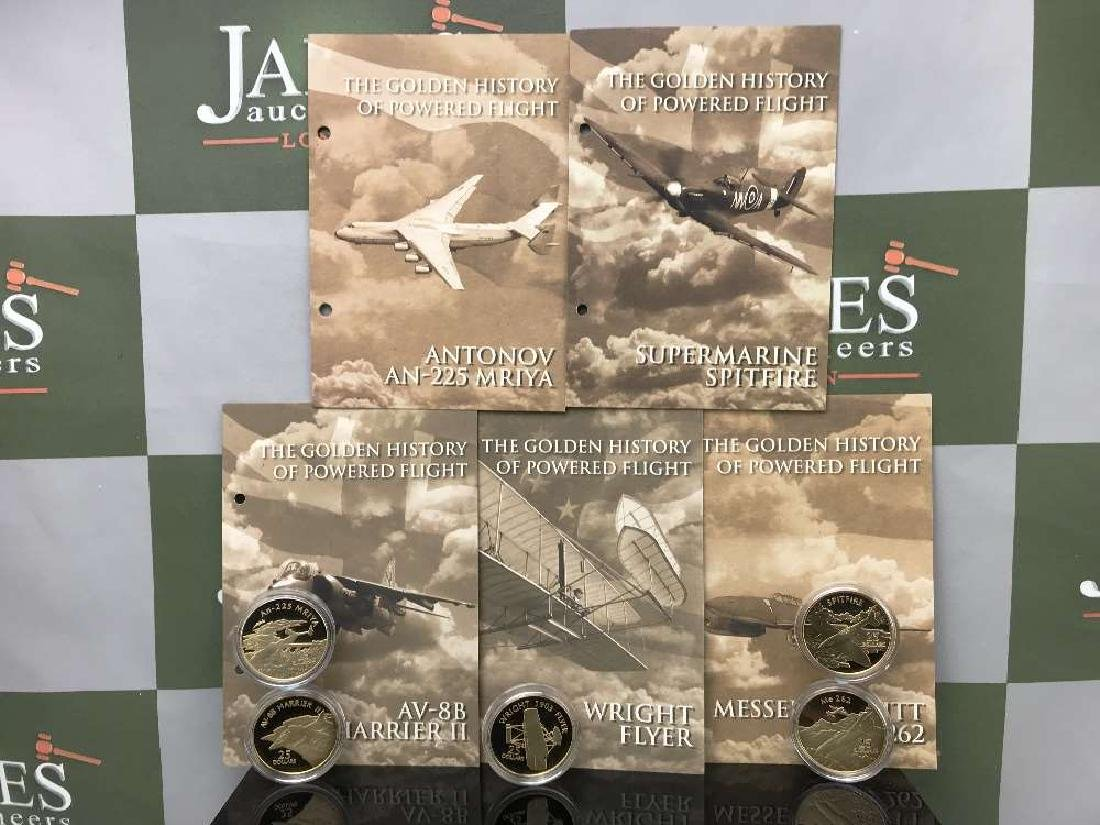 History of Powered Flight $25 Dollar 999 Silver and