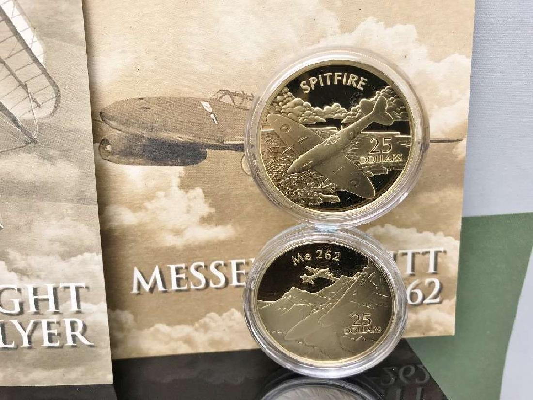 History of Powered Flight $25 Dollar 999 Silver and - 2