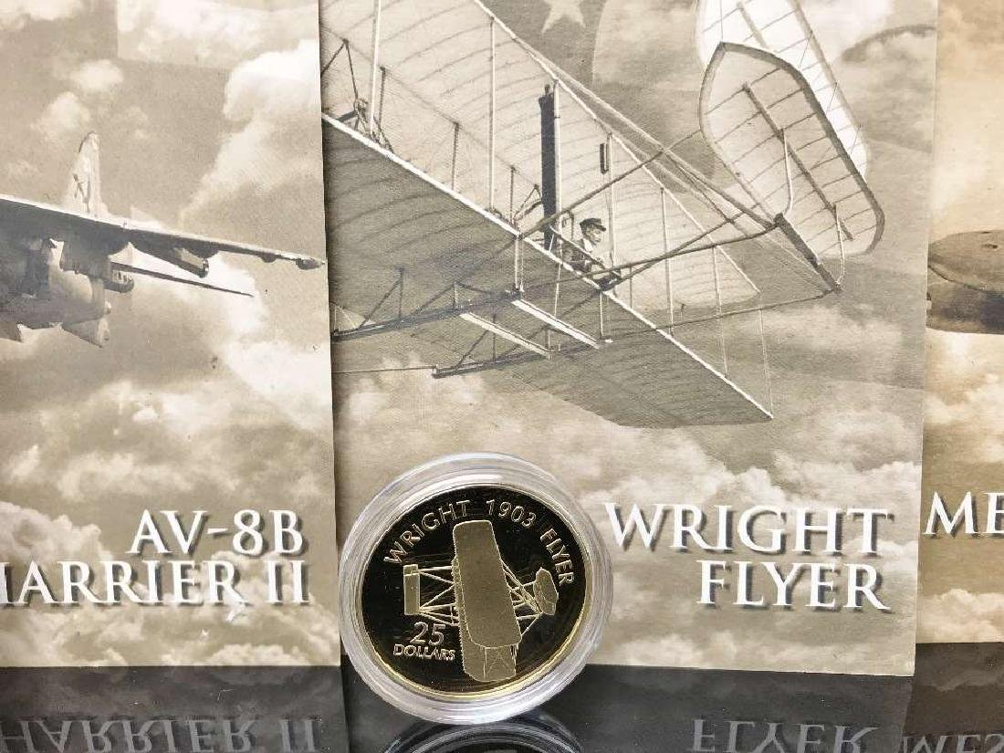 History of Powered Flight $25 Dollar 999 Silver and - 3