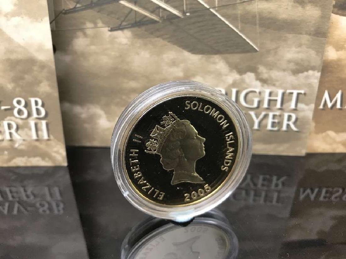 History of Powered Flight $25 Dollar 999 Silver and - 5