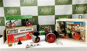 A Vintage Mamod Steam Roller & Open Trolley,Mint Boxed