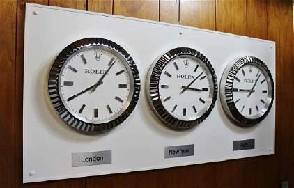"Perpetual Full Size Rolex ""World Capitals"" Clocks"