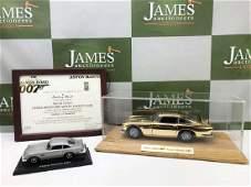Danbury Mint-24kt Gold Plated James Bond 007 Aston