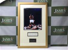 Muhammad Ali Vs Sonny Liston Signed Picture Montage,