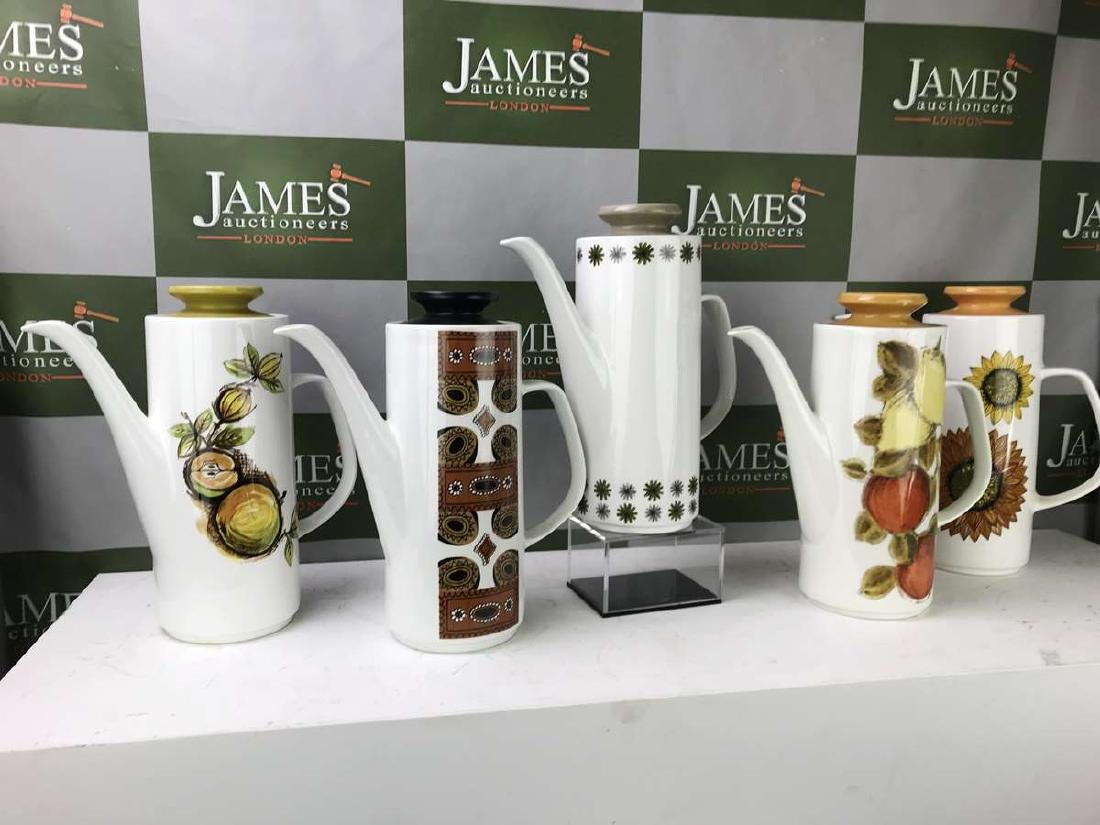 Collection of Five J &G Meakin Studio Coffee Pots-Mid