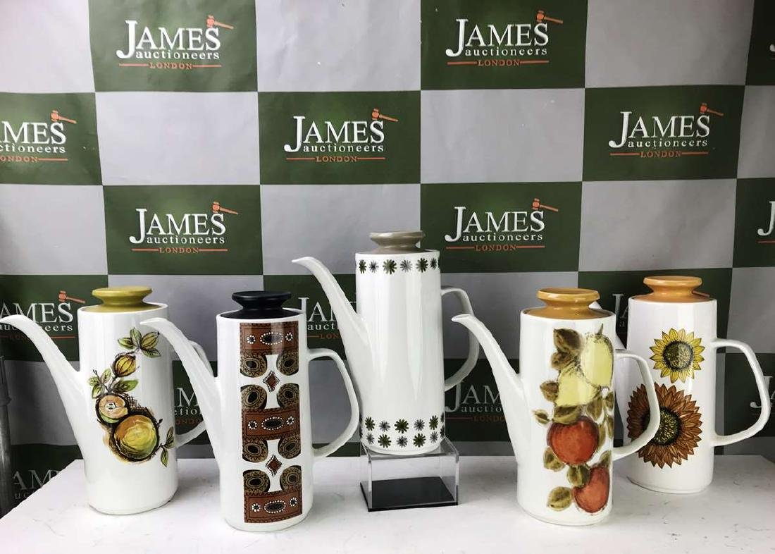 Collection of Five J &G Meakin Studio Coffee Pots-Mid - 2