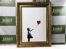 """Banksy Ltd Edition """" Girl With Red Balloon"""""""
