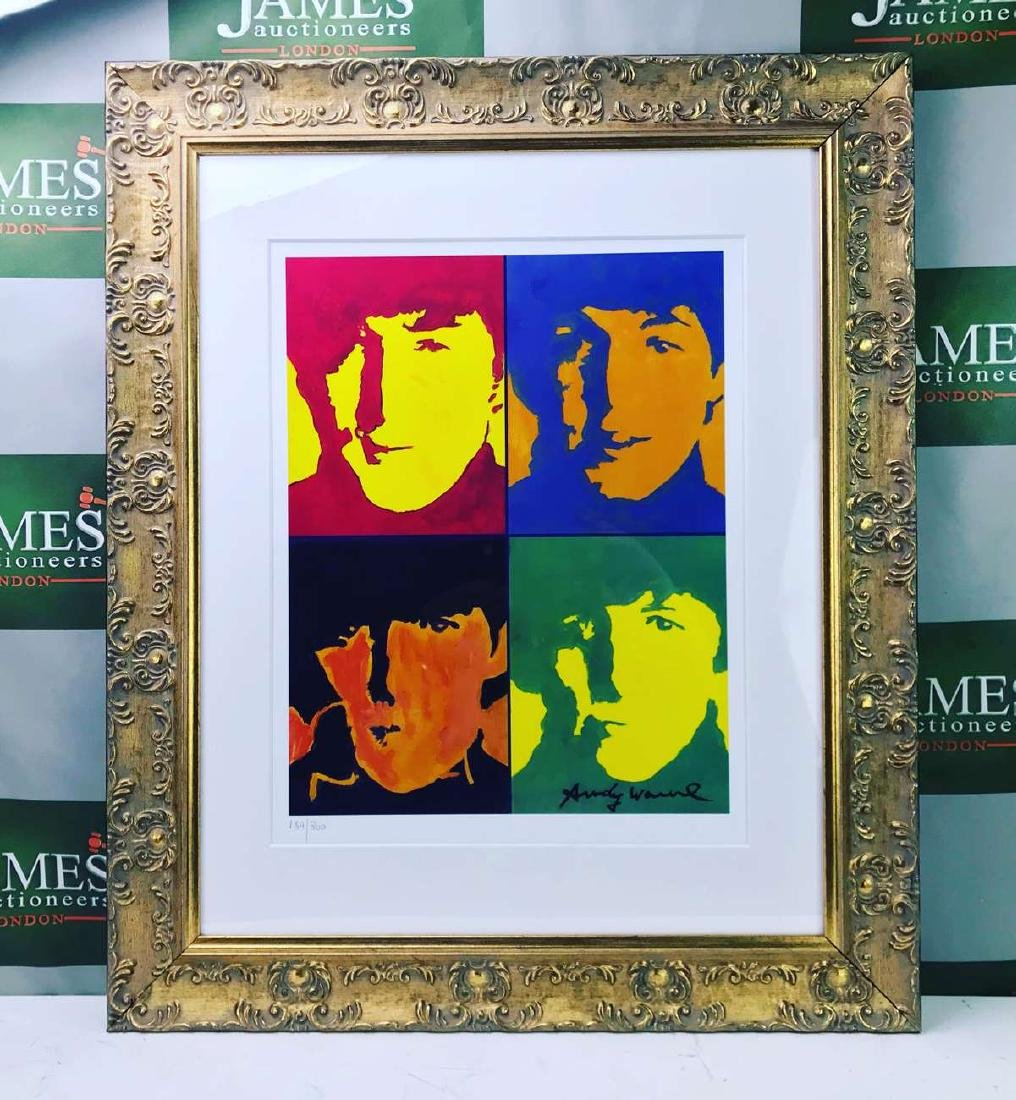 """Andy Warhol """"The Beatles"""" Lithograph-Ornate Framed"""
