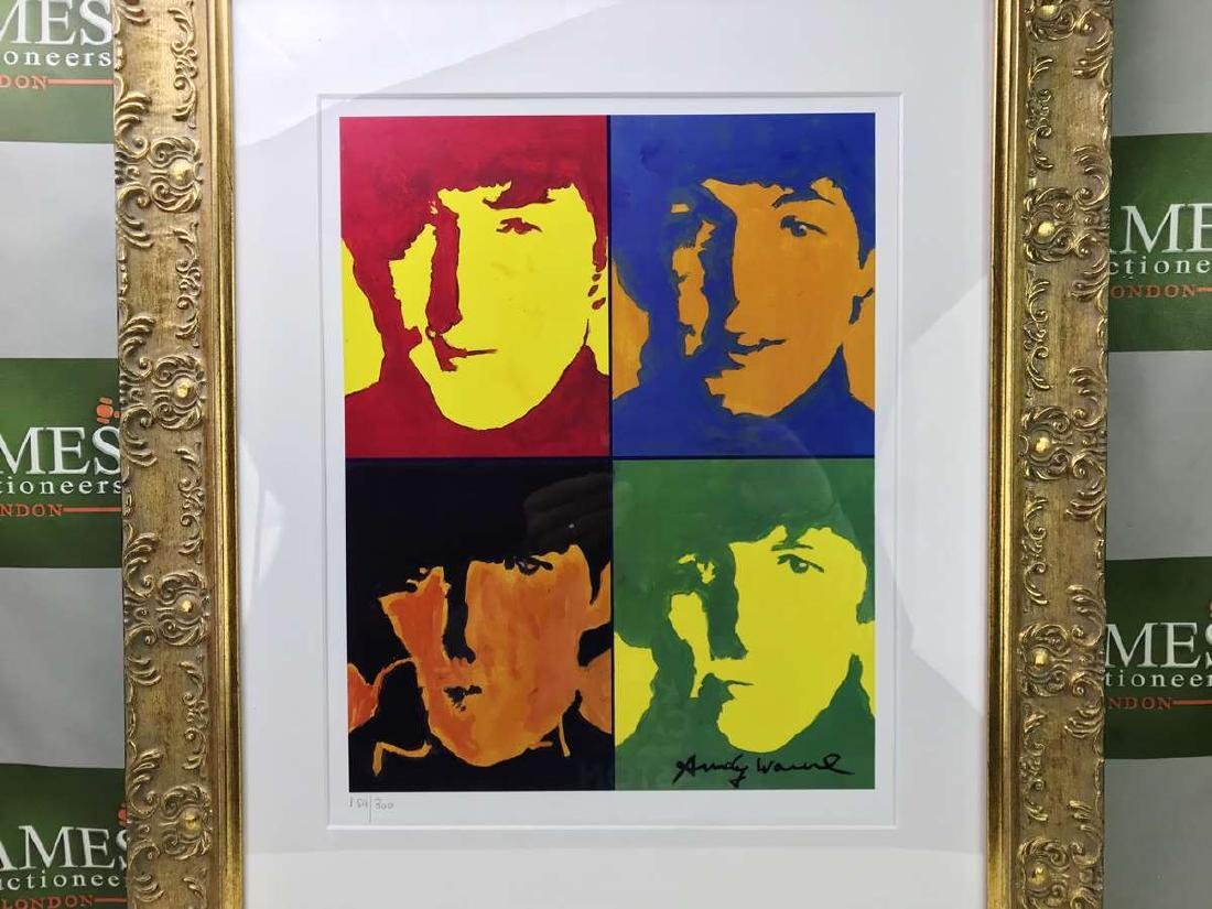 """Andy Warhol """"The Beatles"""" Lithograph-Ornate Framed - 2"""