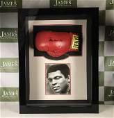 Muhammad Ali Signed Everlast Boxing Glove & Signed