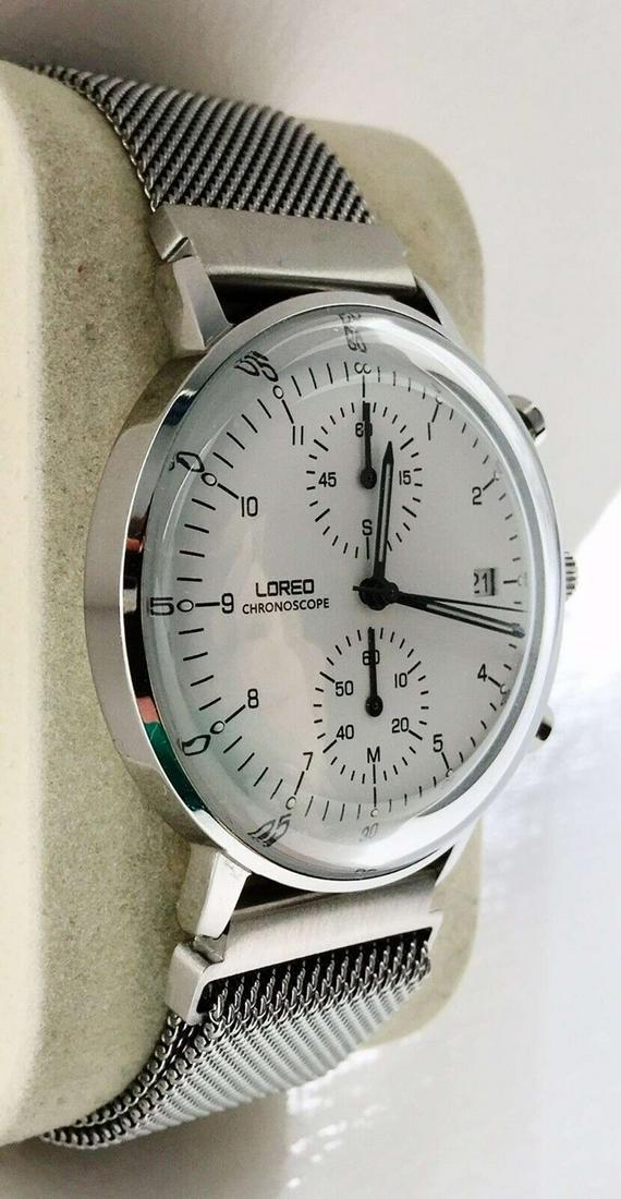 Loreo Chronoscope Quartz Max Bill Homage Watch