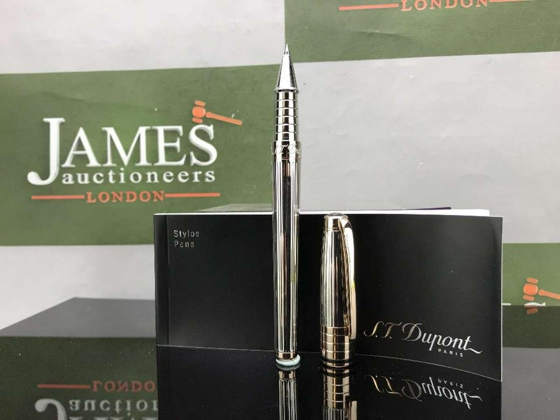 St Dupont - Luxury Olympio Silver & Rose Gold Pen, RRP