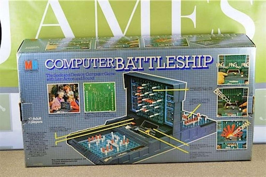 Vintage Computer Battleships game from 1977 (MB