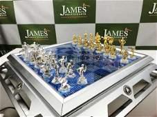 Franklin Mint Star Trek 25th Anniversary Chess Set Gold