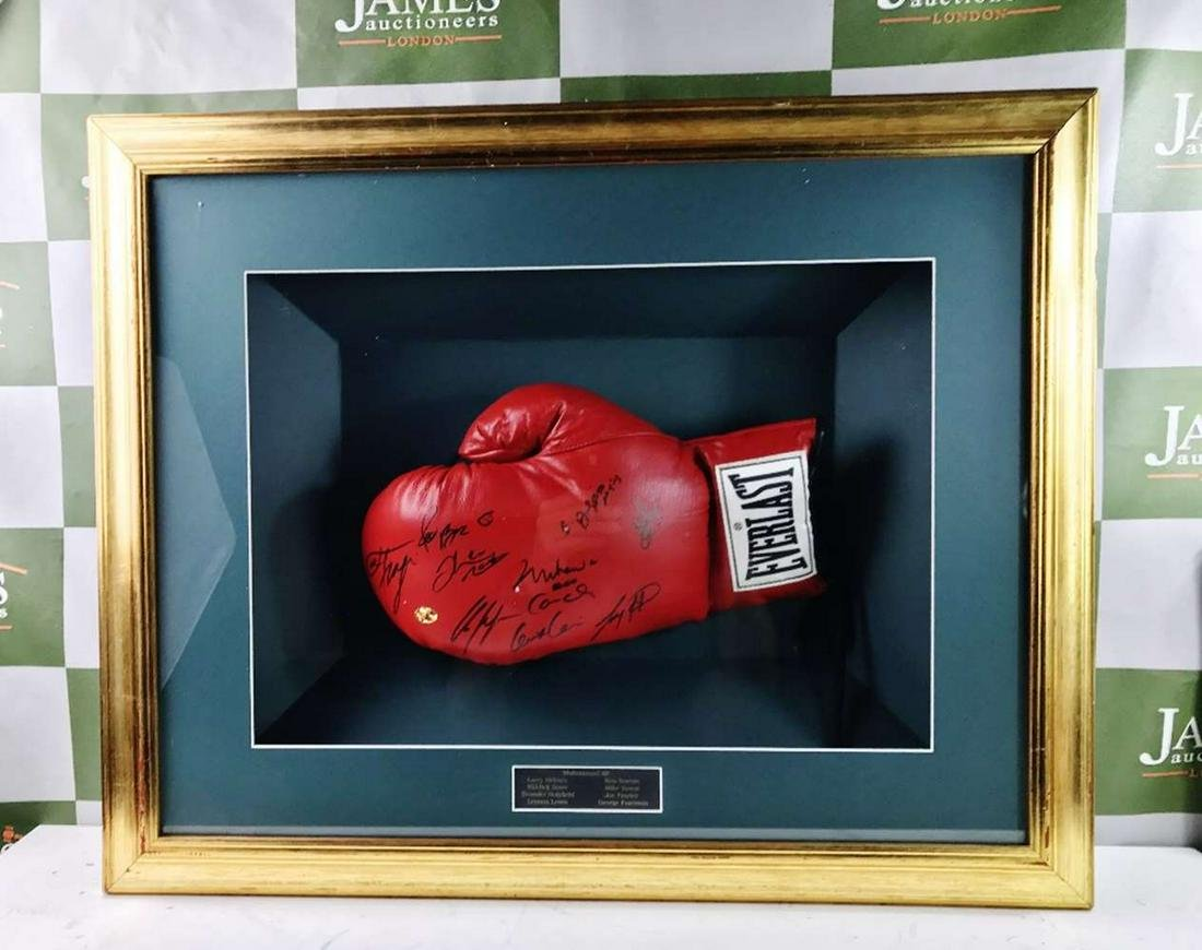 Muhammad Ali Signed Glove Plus Eight Other Heavyweight