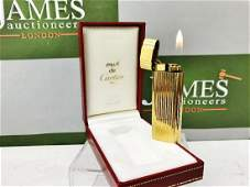 Cartier 18 Carat Gold Plated Working Lighter With