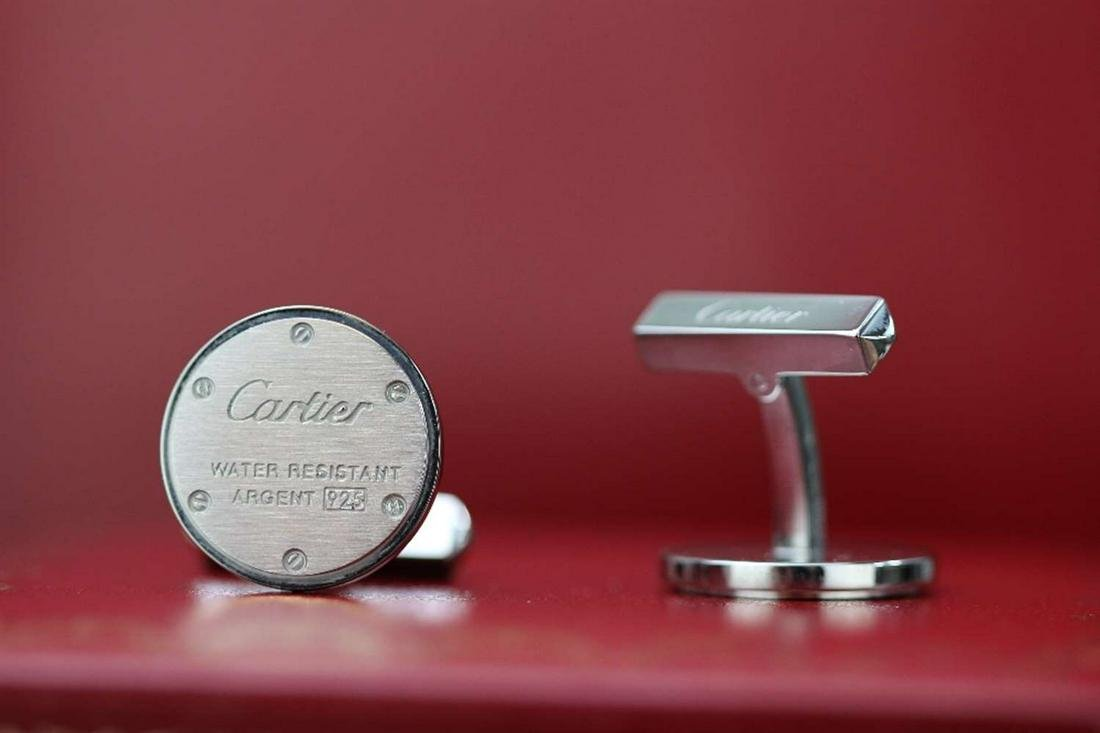 Cartier Cufflinks .925 Sterling Silver.