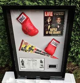 "Muhammad Ali & Joe Frazier Signed Life Magazine ""Fight"