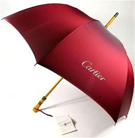 Cartier Umbrella Burgundy Cherbourg Limited Edition 100