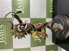 """Franklin Mint """"Spirit Of Thunderbird"""" Bronze Sculpture"""
