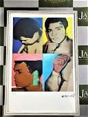 "Andy Warhol ""Muhammad Ali"" Lithographic Ltd Edition"