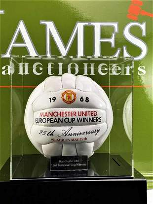 Manchester United 1968-25th Anniversary Signed Football