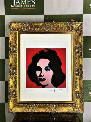 """Andy Warhol 1984 """"Elizabeth Taylor"""" Lithograph # 34/100"""