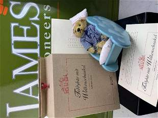 Steiff Limited Edition Boxed Teddy with Cradle