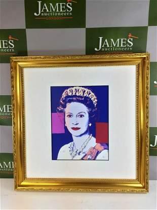 """Andy Warhol Ltd Edition Litograph """"Elizabeth""""-Ornate"""