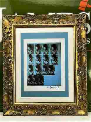 "Andy Warhol 1984 ""Liz Taylor-""Cleopatra"""" Lithograph"