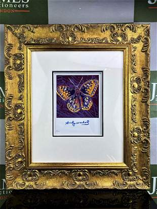 """Andy Warhol 1984 """" Butterfly"""" Lithograph #19/111 Plate"""