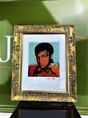 "Andy Warhol 1984 ""Muhammad Ali"" Lithograph Numbered Ltd"
