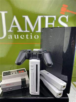 Collection of Vintage Game Consoles-Nintendo Classic,