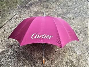 Cartier 100 Year Celebration Wooden Handle Umbrella