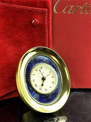 Cartier Décor Lapis Lazuli Starry Table Clock-Hand