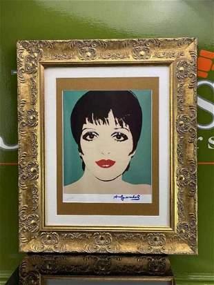 "Andy Warhol 1984 ""Liza Minelli"" Lithograph Numbered Ltd"