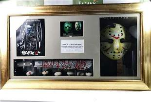 Signed 3D Friday the 13th Jason Display With Mask &
