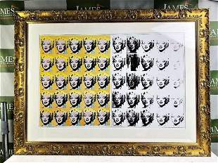 Andy Warhol, 50 Faces of Marilyn Lithograph, Double