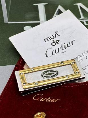 Cartier Paris Santos Edition Gold Plated & Silver Money