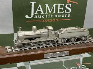 Franklin Mint Worlds Greatest Loco's - Pewter On Wooden