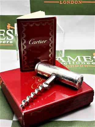 Cartier Paris Solid Silver Vintage Cork Screw