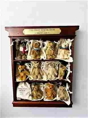 Danbury Mint Steiff Style Teddy Bear Showcase